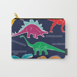 Dino Print - Navy Blue Carry-All Pouch