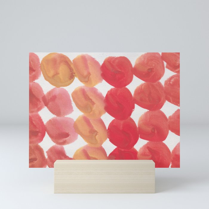11  | 190408 Red Abstract Watercolour Mini Art Print