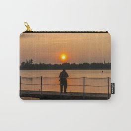 Angler on the river Carry-All Pouch