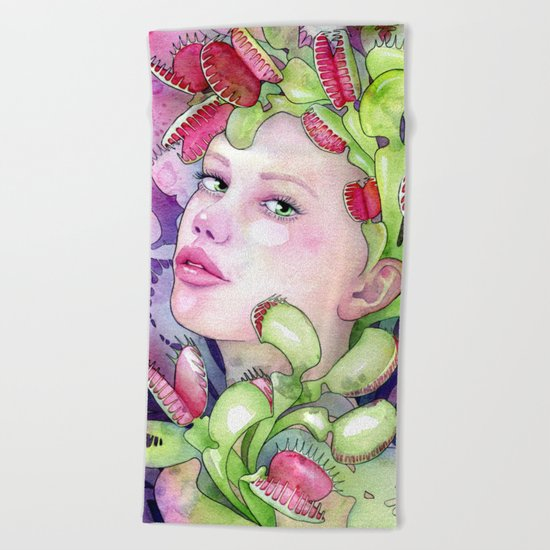 Under the Gaze of Venus Beach Towel