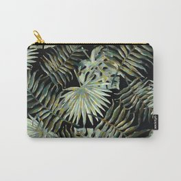 Jungle Dark Tropical Leaves #decor #society6 #pattern #style Carry-All Pouch