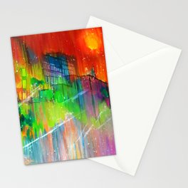 Dorms and Skies  Stationery Cards