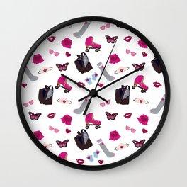 Roller girl Wall Clock