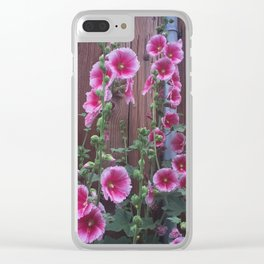 Fence Flowers Clear iPhone Case