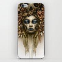 dia de los muertos iPhone & iPod Skins featuring Dia de los Muertos by Marc Potts