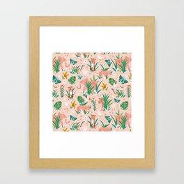 Endangered Wilderness - Blush Pink Framed Art Print