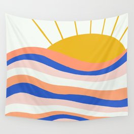 sunrise surf Wall Tapestry