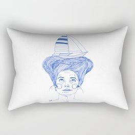 Hairsea blue Rectangular Pillow