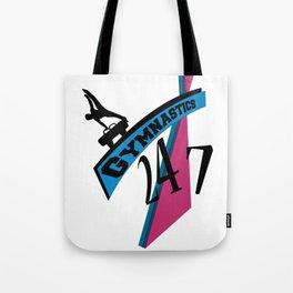 247 Gymnastics Horse pinkblue Tote Bag