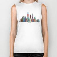 cleveland Biker Tanks featuring Cleveland city  by bri.buckley