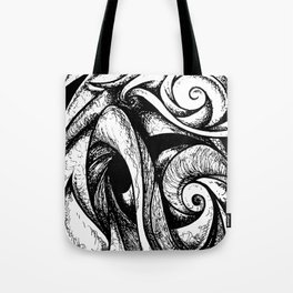 Swirl (black and white) Tote Bag