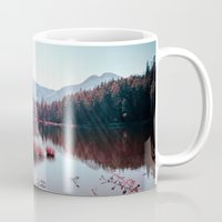 buddhism Mugs featuring Winter Lake by Schwebewesen • Romina Lutz