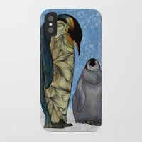 penguins iPhone & iPod Cases featuring Emperor Penguins by Ben Geiger