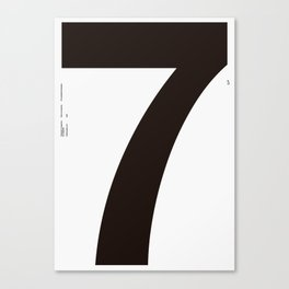 Nº7. Helvetica Posters by empatía® Canvas Print