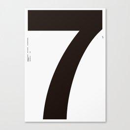 Nº7. Helvetica Posters by empatía® Canvas Print