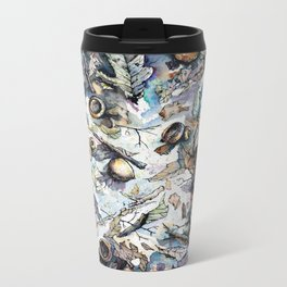 Acorns and Twigs Metal Travel Mug