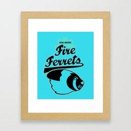 Future Industries Fire Ferrets Framed Art Print