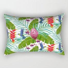 Hummingbird in the Rainforest Rectangular Pillow