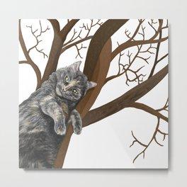 Tree Cat Metal Print