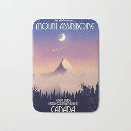 Mount Assiniboine Canada travel poster Bath Mat