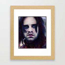 "Bucky Barnes ""The Winter Soldier"" Portrait Framed Art Print"