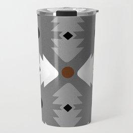 Modern Desert Fox Southwest Pattern Travel Mug