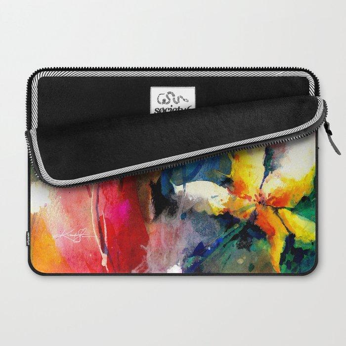 Yellow Flower by Kathy Morton Stanion Laptop Sleeve