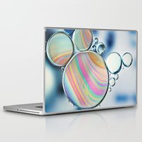 oil Laptop & iPad Skins featuring oil and water by Ingrid Beddoes