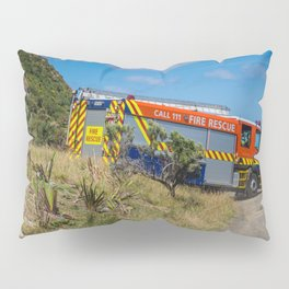 Fire Engine On The Coast Pillow Sham