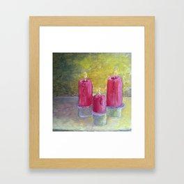 Candles  Oil on Canvas Framed Art Print