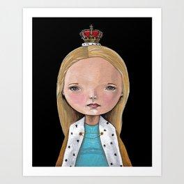 Little Queen Art Print