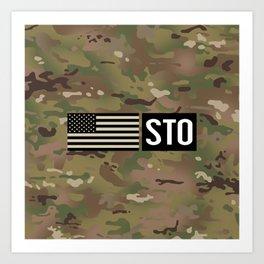 STO (Camo) Art Print