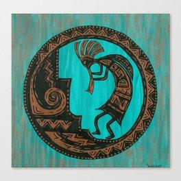 Turquoise Kokopelli Canvas Print
