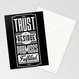 Lab No. 4 Trust Residue Of Promises Fulfilled Inspirational Quotes Stationery Cards