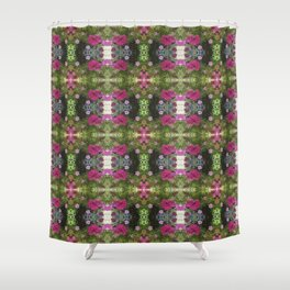 Pink and White Flowers reflection Shower Curtain