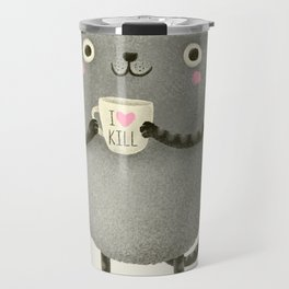 I♥kill (brown) Travel Mug