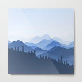 Classic Blue Mountains Metal Print