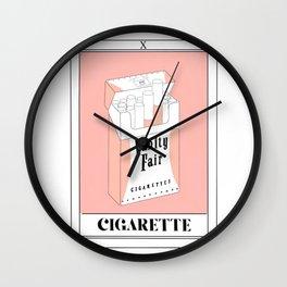 the cigarette tarot card Wall Clock