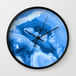 Bright Blue Marble Wall Clock