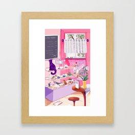 Cutie Catterie - sweet kitty bakery Framed Art Print