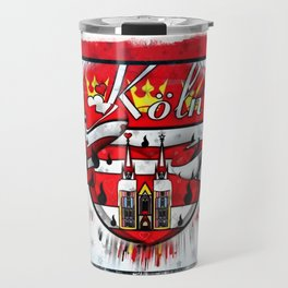 Köln Popart by Nico Bielow Travel Mug