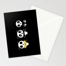 Little Pandas in the Dark Stationery Cards