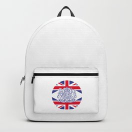 UK coat of arms and flag Backpack