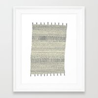 rug Framed Art Prints featuring Rug by Rebecca Zablocki