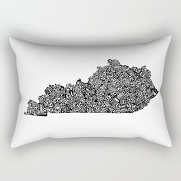 Typographic Kentucky Rectangular Pillow