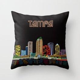 Tampa Circuit Throw Pillow
