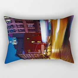 Taxi's Whizzing By Rectangular Pillow