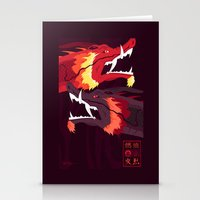 zuko Stationery Cards featuring Original Bending Masters Series: Ran and Shaw by miss-meza