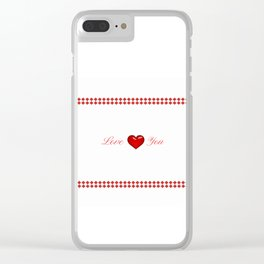 Red Saint Valentine's Day Clear iPhone Case