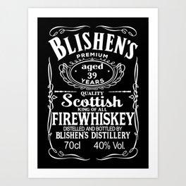 Blishen's Firewhiskey Art Print